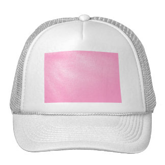 Soft Pink Leather Look (Faux) Mesh Hat