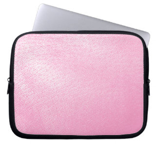 Soft Pink Leather Look (Faux) Laptop Sleeve