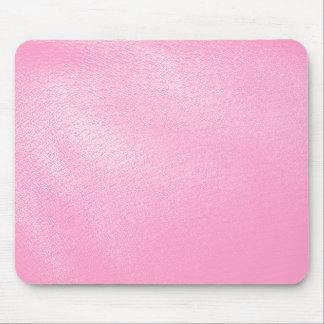Soft Pink Leather Look (Faux) Mouse Pad