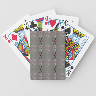 Soft Pink Pattern Gray Background Bicycle Playing Cards