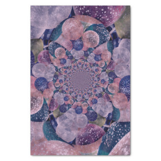 Soft Pink, Purple And Blue Kaleidoscope Balloons Tissue Paper