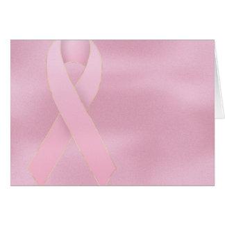 Soft Pink Ribbon Breast Cancer Greeting Card
