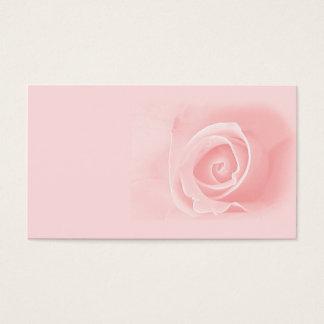 Soft pink rose business card