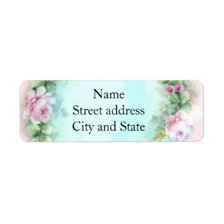 Soft Pink Rose Painting Return Address Label