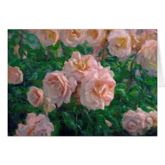 Soft Pink Roses Card