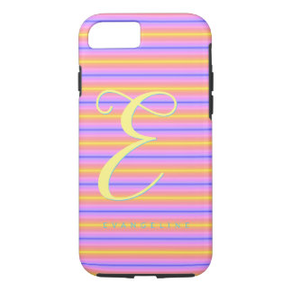 Soft Pink Striped Monogrammed iPhone 8/7 Case