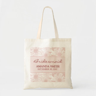 Soft Pink Sunflower Personalized Wedding Party Bag