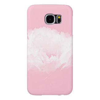Soft Pink White Peony - Floral Samsung Galaxy S6 Cases