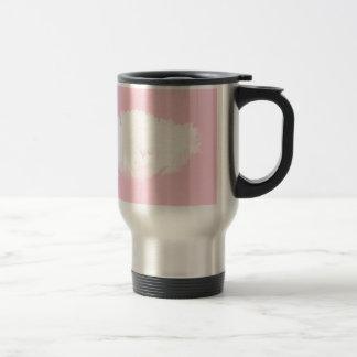 Soft Pink White Peony - Floral Travel Mug