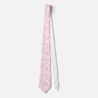 Soft Pink & White Vintage Floral Damasks Tie