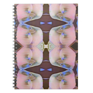 Soft Pink With Brown Periwinkle Accents Notebook