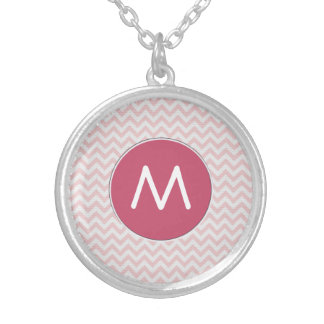 Soft pink zigzag pattern necklaces