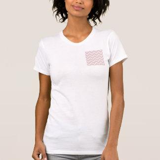 Soft pink zigzag pattern t shirt
