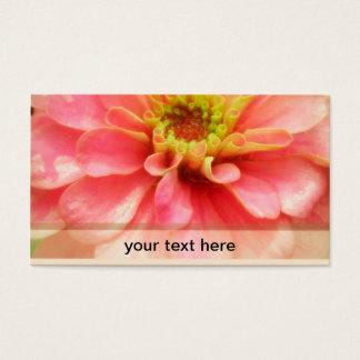 Soft Pink Zinnia Flower Business Card