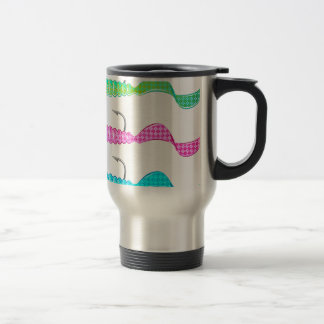 Soft plastic bright jig fishing lure twisting tail travel mug