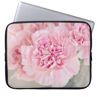 Soft Powder Pink Flower Laptop Sleeve