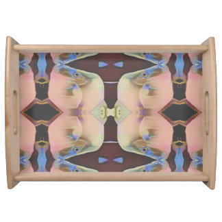 Soft Pretty Symmetrical Pastel Outdoor Serving Tra Serving Tray