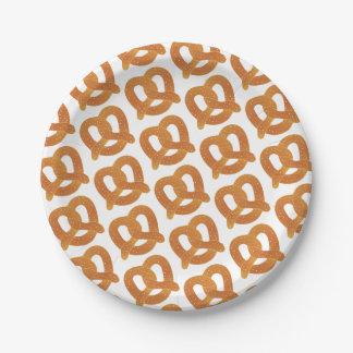Soft Pretzel Pattern Paper Plate