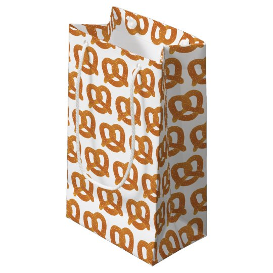 Soft Pretzel Pattern Small Gift Bag