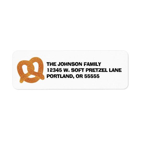 Soft Pretzel Return Address Label