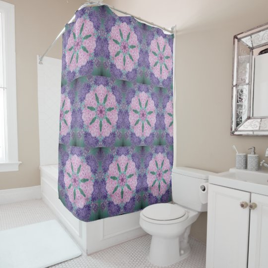 Soft Purple And Pink Hydrangea Shower Curtain