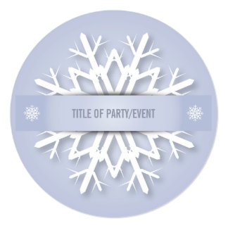 Soft Purple Christmas Snowflake Invitation