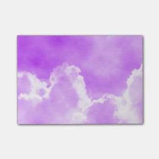 Soft Purple Clouds Post-it Notes
