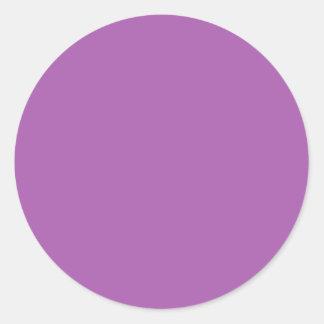 Soft Purple Color Round Sticker