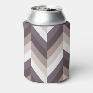 Soft Purple Herringbone Can Cooler