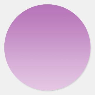 Soft Purple Ombre Classic Round Sticker