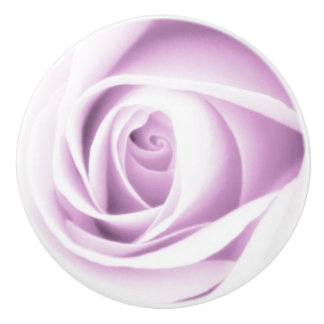 Soft purple rose ceramic knob