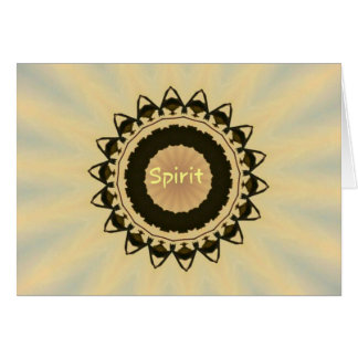 """Soft Radiating Yellow """"Spirit"""" Mandela Pattern Card"""