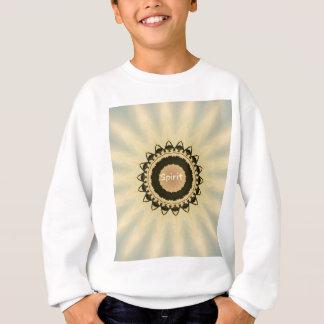 """Soft Radiating Yellow """"Spirit"""" Mandela Pattern Sweatshirt"""