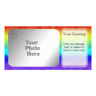 Soft Rainbow PhotoCard Template Custom Photo Card