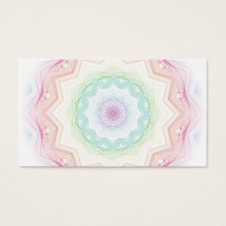 Soft Rainbow Spirograph Business Card