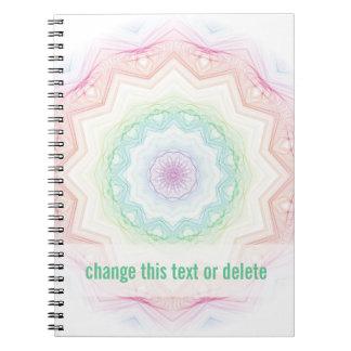 Soft Rainbow Spirograph Spiral Notebooks