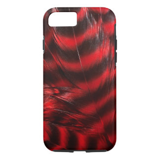 Soft Red and Black Feathers iPhone 7 Case