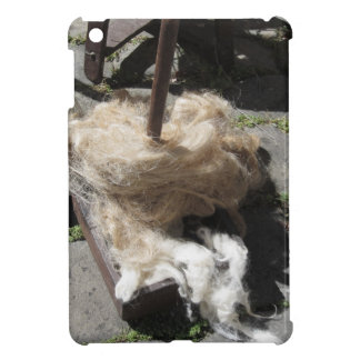 Soft rolls of wool called rovings or rolags case for the iPad mini