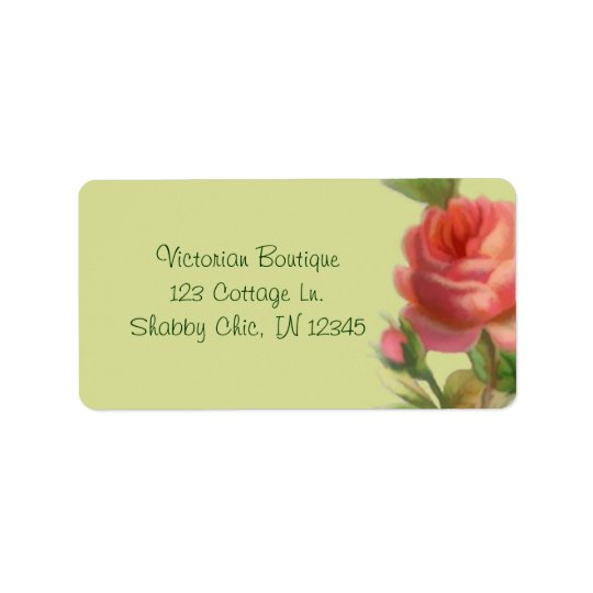 Soft Rose Address Label