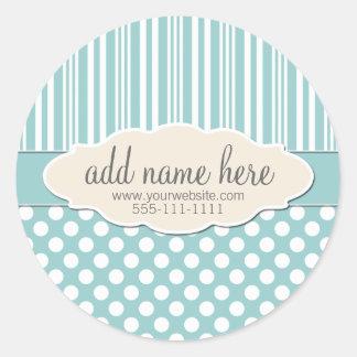 Soft Sage / Light Green Product Label Round Sticker