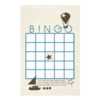 Soft Sails Bingo Shower Game Stationery