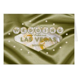 Soft Satin White/Yellow Roses WEDDING In Las Vegas Greeting Card