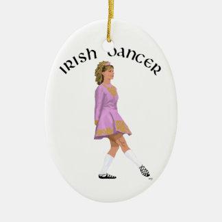 Soft Shoe Irish Dancer in Pink Ceramic Ornament