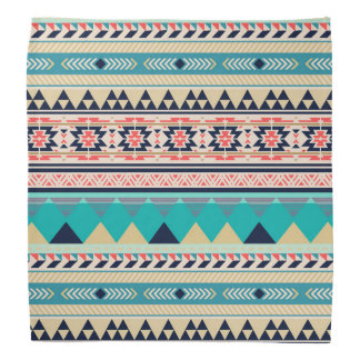 Soft Southwest Tribal Pattern Pink Turquoise Gold Bandana