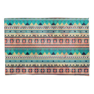 Soft Southwest Tribal Pattern Pink Turquoise Gold Pillowcase