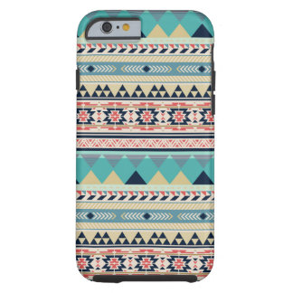 Soft Southwest Tribal Pattern Pink Turquoise Gold Tough iPhone 6 Case