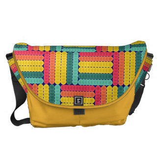 Soft spheres pattern messenger bags