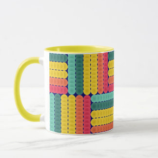 Soft spheres pattern mug