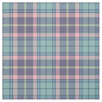 Soft Spring Colors Aqua, Purple, Pink Plaid Fabric