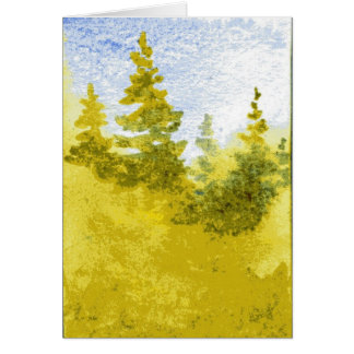 """""""Soft Spring Pines"""" Country Road Greeting Card"""